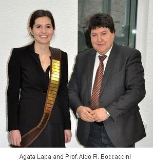 Agata Lapa and Professor Aldo R. Boccaccini