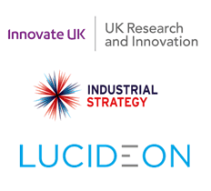 Innovate UK - Industrial Strategy - Lucideon Logos